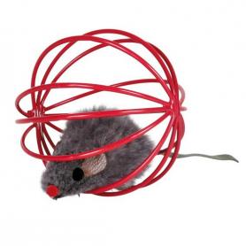 Игрушка для котов мышка в шаре 6 см, 4115 фото
