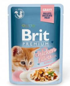 111255 Консервированный корм Брит Премиум для Котят филе курицы в соусе, 85 г фото