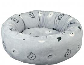 Лежак 'Mimi' 50см серый в мордочки фото