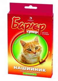 Ошейник Барьер ин.акариц.для кот разноцветный фото