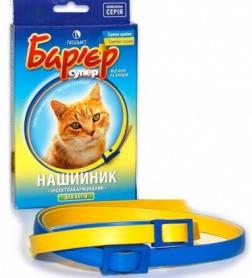 Ошейник Барьер синий ин.акариц.для котов фото