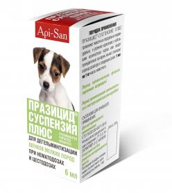 Празицид суспензия для щенков мелких пород 6 мл фото