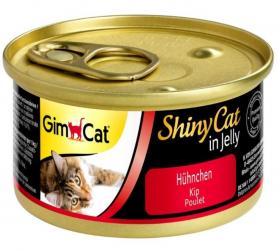 413310 Гимкет ШйниКет консервированный корм для кошек всех пород, курица 70 г фото