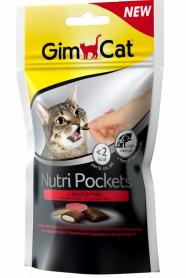 400747 Гимкет Нутри Покетс для кошек говядина и солод 60 г фото