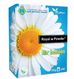 Концентрированный безфосфатный стиральный порошок Royal Powder для детских вещей Ромашка, 3кг фото