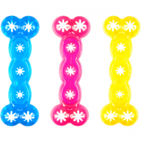 1031003 Karlie Flamingo GOOD4FUN BONES 18 кость литая, прозрачная, игрушка для собак, резина, 18 см  фото