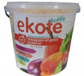 Комплексное минеральное удобрение для плодово-ягодных культур, 3м, 1кг, Ekote фото