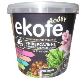 Комплексное минеральное универсальное удобрение  Premium, 9м, 1кг, Ekote фото