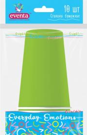 Стаканы бумажные, зеленые, 250мл/10шт, EVENTA, 38220600 фото