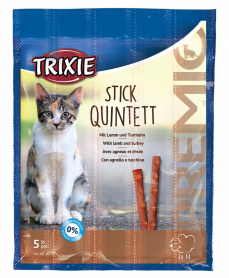 42723 Палочки д/ кошек Premio Quadro-Sticks ягненок/индейка 5 шт  фото