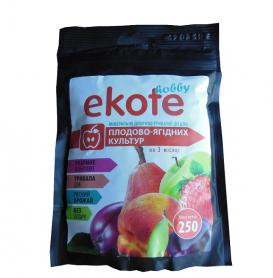 Комплексное минеральное удобрение для плодово-ягодных культур, 3м, 250г, Ekote фото