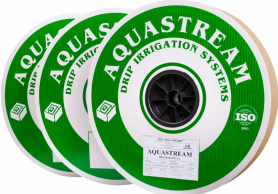 Капельная лента AQUASTREAM 1000 м растояние капельниц 20см, 5mil, водовылив 1,6л/ч фото