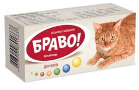 Витамины Браво д/котов №60  фото