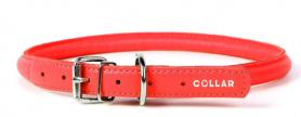 32013 Ошейник WAUDOG GLAMOUR без украшений (шир. 9 мм, дл. 19-25 см), красный фото