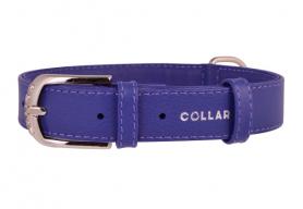 32569 Ошейник WAUDOG GLAMOUR без украшений (шир. 12 мм, дл. 21-29 см), фиолетовый фото