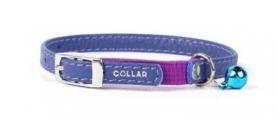 32759 Ошейник WAUDOG GLAMOUR без украшений д/котят с резинкой (шир. 9 мм, дл. 17-20 см), фиолетовый фото