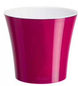 Вазон «АРТЕ» (1,2 л) пурпурный-белый, F2 LIL-ALB фото