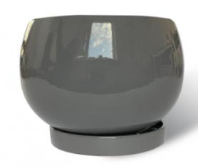 Горшок Куля, 2,8л, серый, Р011 фото