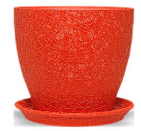 Горшок Магнолия 13 * 15 * 1,3 шелк, красный, керамика, 10921539 фото