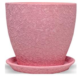 Горшок Магнолия 13 * 15 * 1,3 шелк, розовый, керамика, 10921537 фото