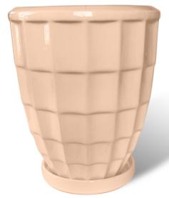 Горшок Рельеф квадраты, 1,7л, персиковый, Р268 фото