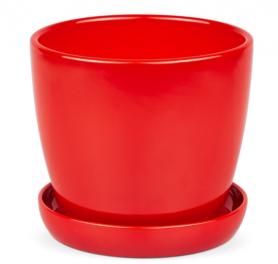 Горшок Сонет, 13х12,5х1,0, премиум красный, керамика, 10937819 фото