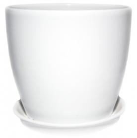 Горшок Сонет 13 * 12,5 * 1,0 ангоб белый, керамика, 10937780 фото