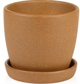 Горшок Сонет 15 * 14,5 * 2,0 ангоб коричневый, керамика, 10937789 фото
