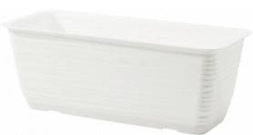 Горшок для цветов 'Сахара-40' 5,7л белый с подставкой, 3180-011 фото