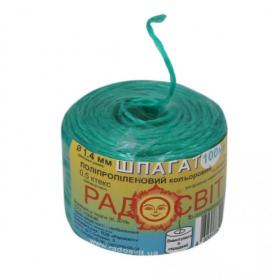 Шпагат полипроп. цветной 100 м/бобина фото
