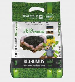 Субстрат универсальный с биогумусом, 6л, Peatfield (Питфилд) фото