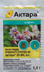 Инсектицид Актара, 1.4г, Syngenta (Сингента) фото