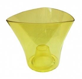 Кашпо для орхидей Дельта, 160х95х145, треугольник, желтый фото