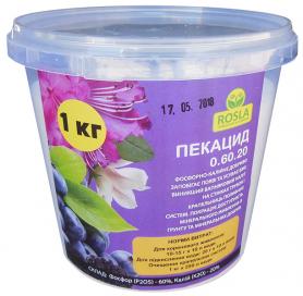 Комплексное минеральное удобрение Pekacid (Пекацид), 1кг, NPK 0.60.20, TM ROSLA (Росла) фото