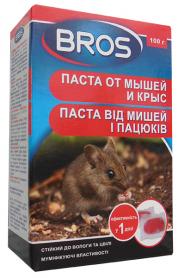 Паста от мышей и крыс, 100г, 14406, BROS фото