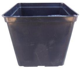 Горшок для рассады квадратный, 15х15х15, 3л, черный, Kloda (Клода) фото