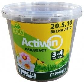 Комплексное минеральное удобрение для ландшафта Actiwin (Активин), 1кг, 20.5.10+ME, Весна-Лето, 3-4 мес., TM ROSLA (Росла) фото