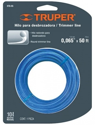 Струна для триммера 1.65мм, 15м, Truper,  НТА-65 фото