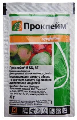 Инсектицид Проклэйм 5 SG, 4г, Syngenta (Сингента) фото