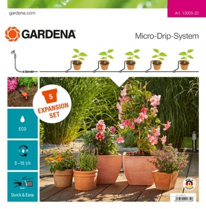 Комплект для удлинения микрокапельного полива, Gardena, 13005 фото