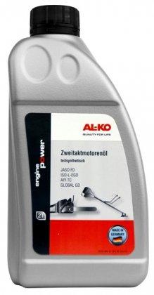Масло для мотокос и цепных пил, полусинтетическое 2-тактное JASO FD, 1л, AL-KO, 112896 фото