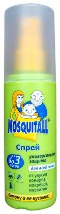 Спрей от комаров Универсальная защита, 100мл, Mosquitall фото