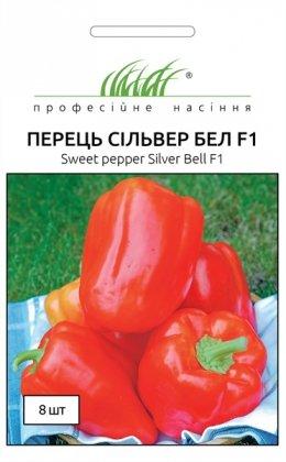 Семена перца кубовидного Сильвер Бел F1, 8шт, Nong Woo Bio, Корея, Професійне насіння фото