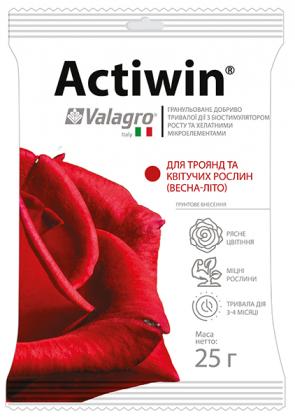 Комплексное минеральное удобрение для роз и цветущих растений Actiwin (Активин), 25г, NPK 12.5.20, Весна-Лето, Valagro (Валагро) фото