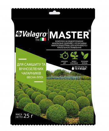 Комплексное минеральное удобрение для самшита и вечнозеленых кустарников Master (Мастер), 25г, NPK 17.6.18, Весна-Лето, Valagro (Валагро) фото