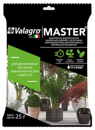 Комплексное минеральное универсальное удобрение для декор.-листв. комнатных растений Master (Мастер), 25г, NPK 17.6.18, Valagro (Валагро) фото