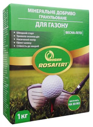 Комплексное минеральное удобрение для газона Rosafert (Росаферт), 1кг, NPK 16.14.7, Весна-Лето, Rosier SA фото
