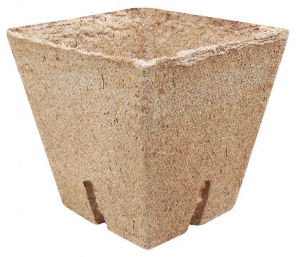 Стаканчик торфяной квадратный Jiffy (Джиффи), 8x8см, 50шт, TM ROSLA (Росла) фото