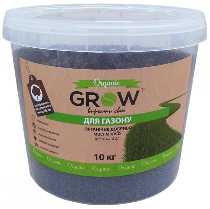 Органическое удобрение для газона ТМ Grow (Multimix bio), 10кг, Весна-Лето фото