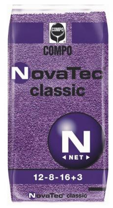 Комплексное минеральное удобрение для газона NovaTec Classic (НоваТек Классик), 25кг, NPK 12.8.16+ME, Осень, Compo Expert (Компо Эксперт) фото